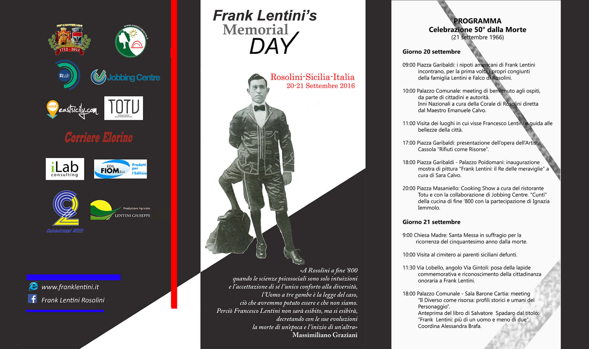 Frank Lentini events e news
